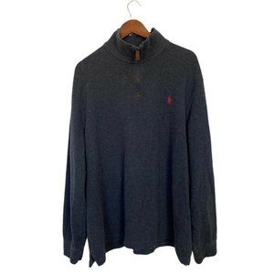 Polo Ralph Lauren Pullover Sweater Gray Mock Neck
